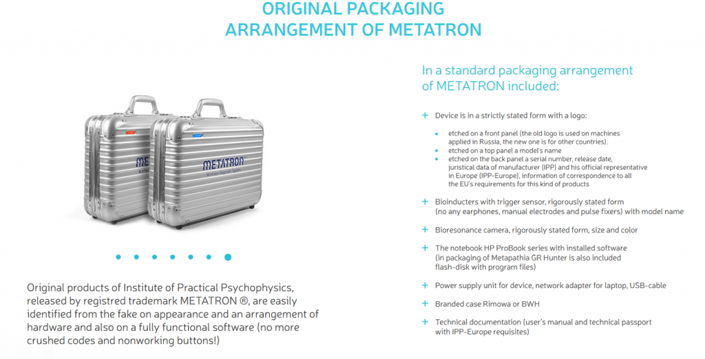 original packaging arrangement of metatron 1